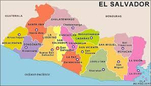 El Salvador, Departamentos, Capitales y Distritos